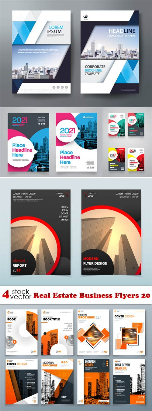 Vectors - Real Estate Business Flyers 20