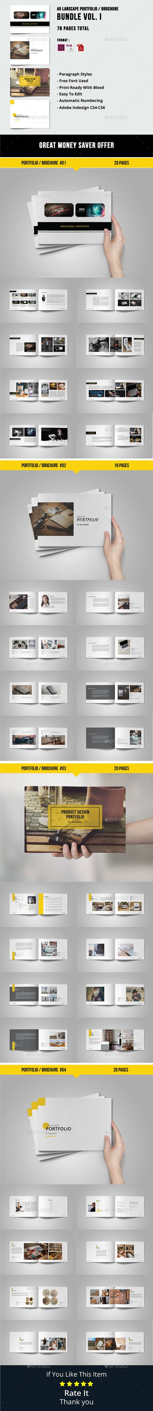 GR - A5 Lanscape Portfolio / Brochure Bundle