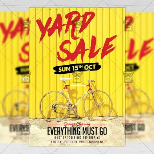 Community A5 Flyer Template - Yard Sale