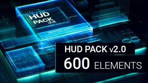 HUD Pack v2.0 - 600 elements - Project for After Effects (Videohive)