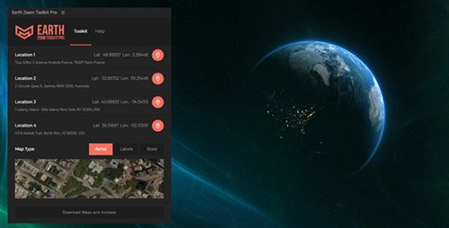 Earth Zoom Toolkit Pro v1.1 - After Effects Scripts (Videohive)