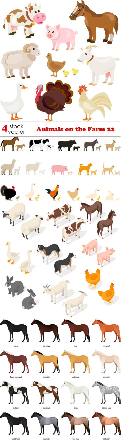 Vectors - Animals on the Farm 22
