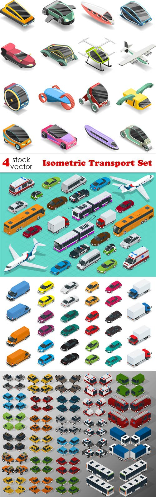 Vectors - Isometric Transport Set