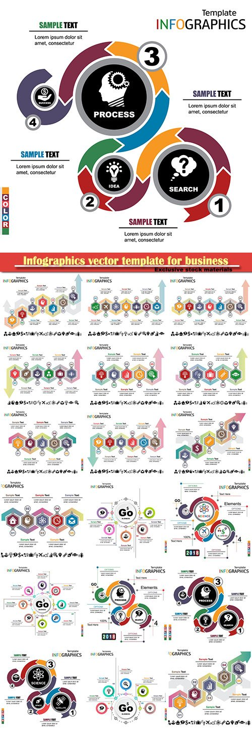 Infographics vector template for business presentations or information banner # 47