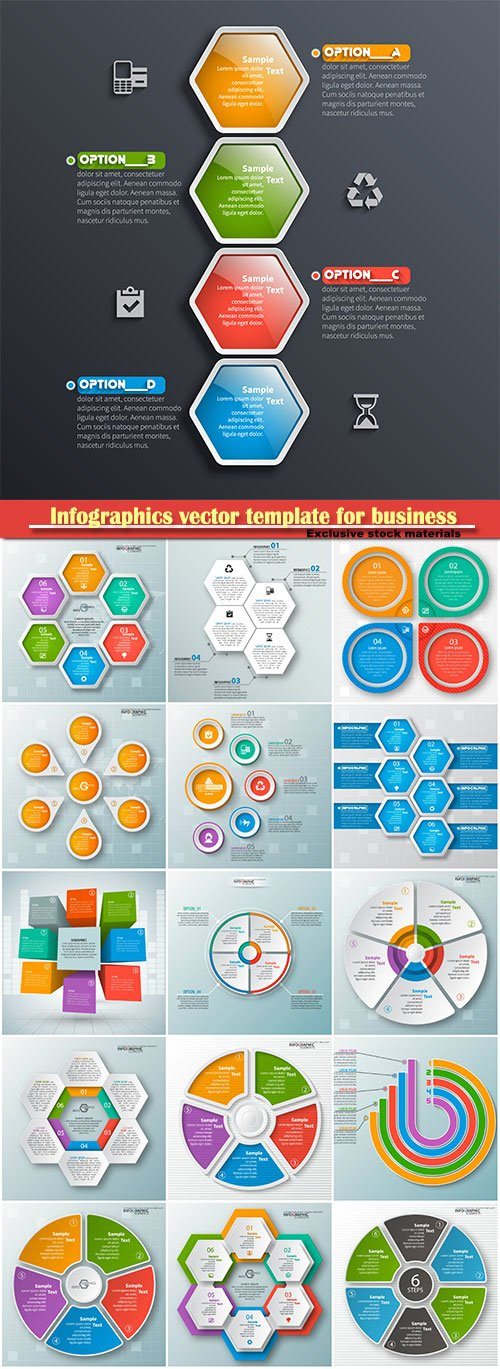 Infographics vector template for business presentations or information banner # 56