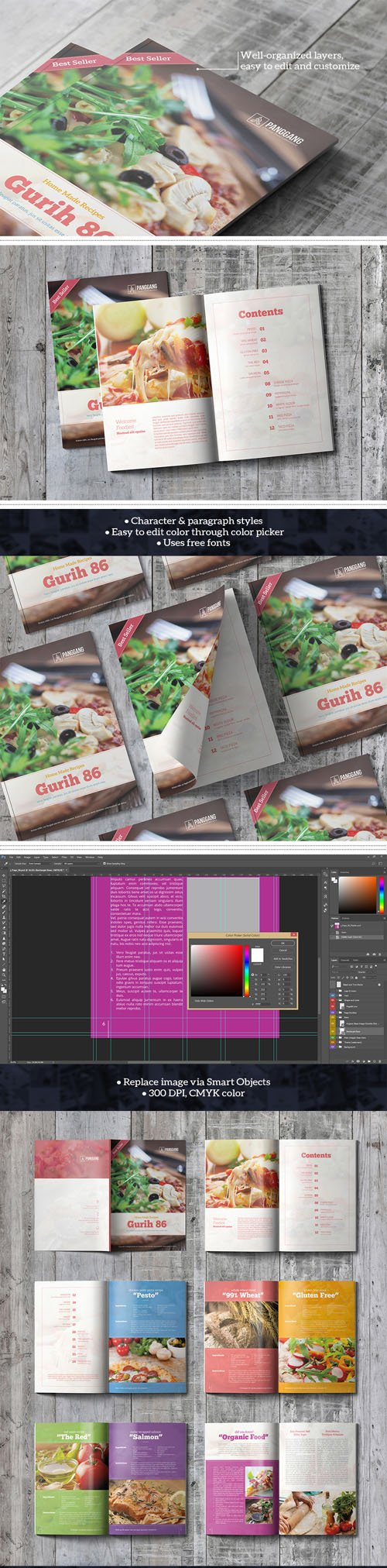 Gurih Cookbook PSD Template