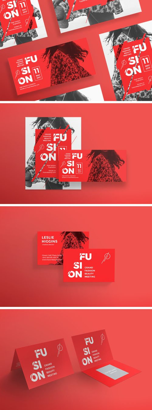Flashing Red Templates Pack [PSD/EPS]