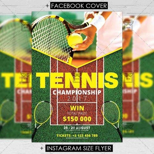 Sport A5 Flyer Template Tennis Championship Nitrogfx