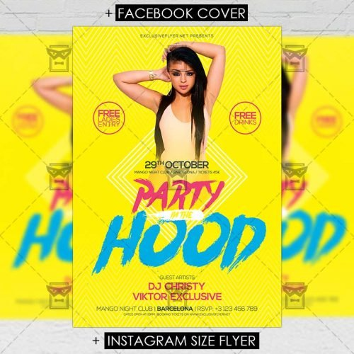 Club A5 Flyer Template - Party in the Hood