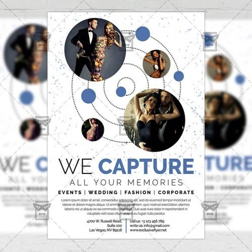 Business A5 Flyer Template - Exclusive Photography