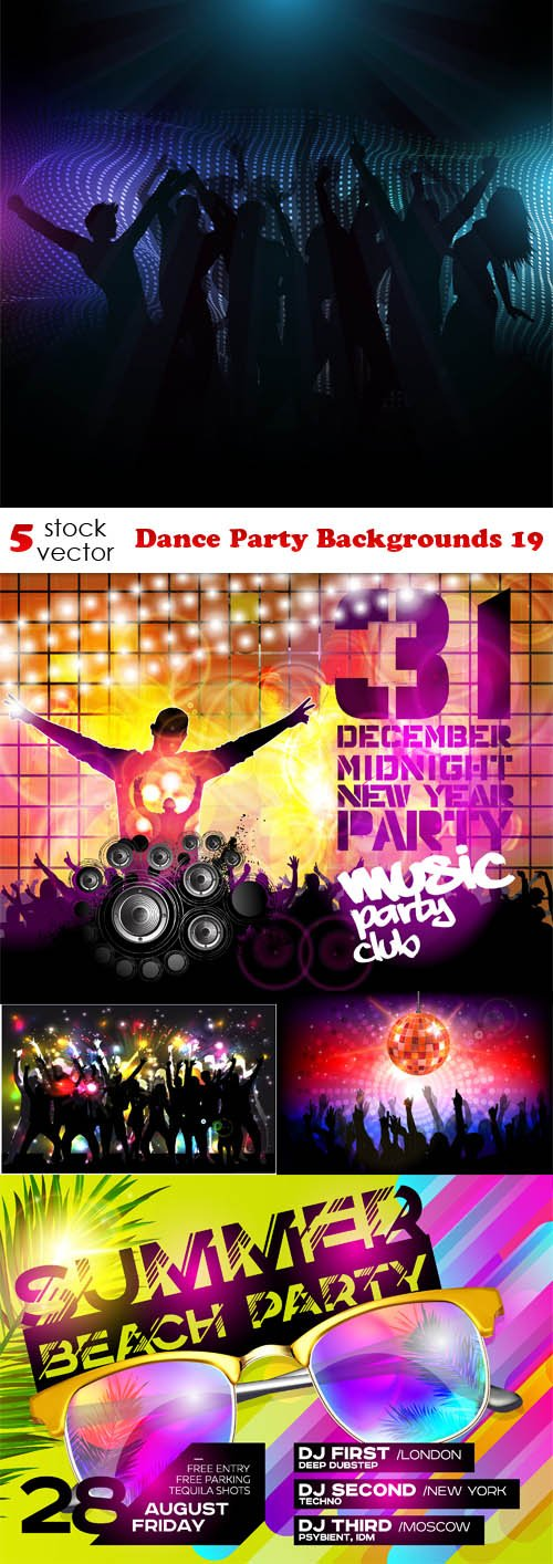 Vectors - Dance Party Backgrounds 19