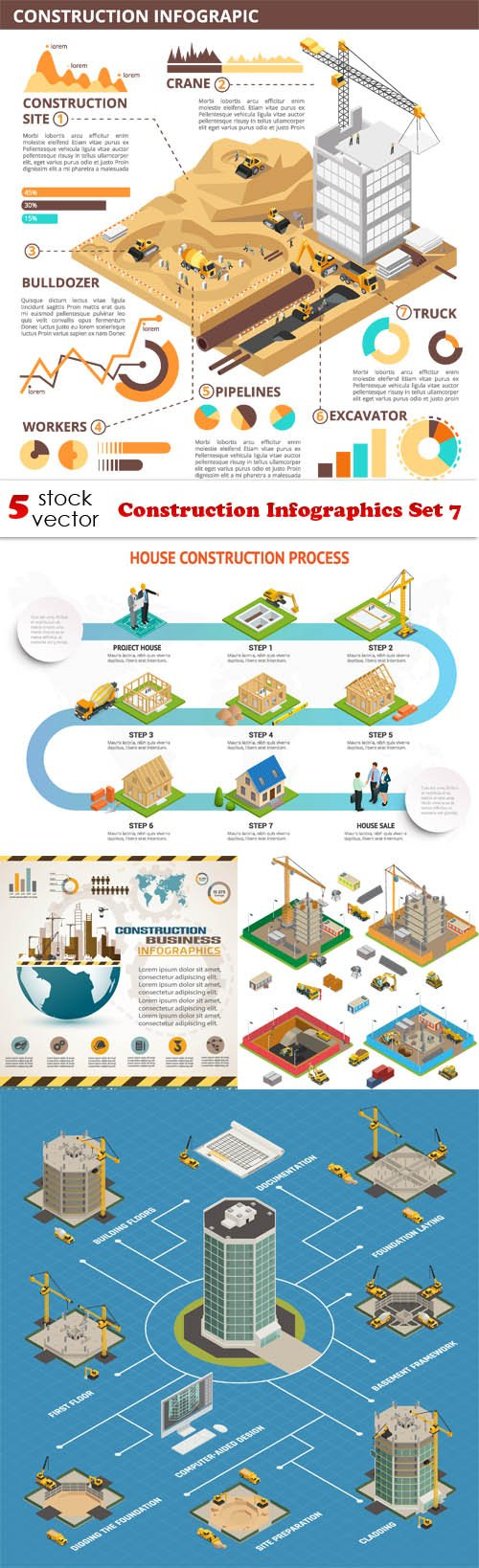 Vectors - Construction Infographics Set 7