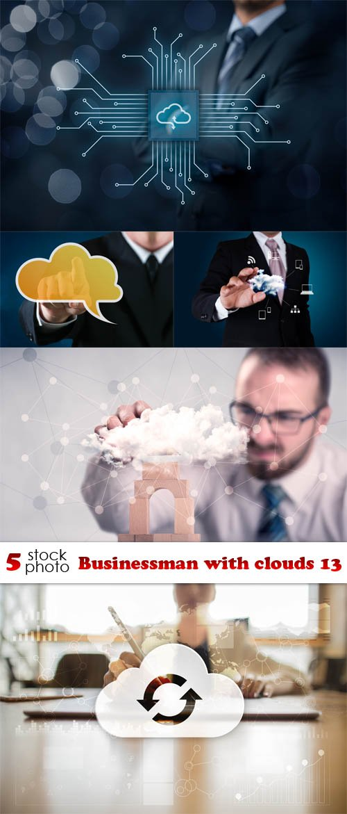 Photos - Businessman with clouds 13