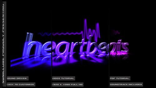 Audio Driven Heartbeat Template - Project for After Effects (Videohive)