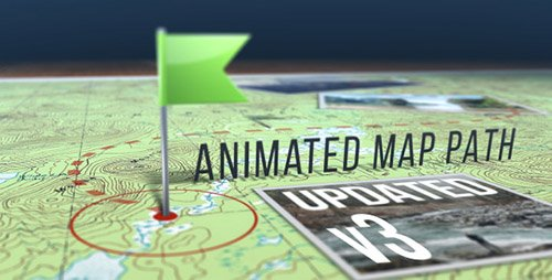 Animated Map Path v.3 - Project for After Effects (Videohive)
