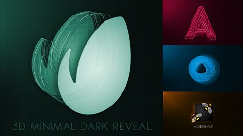 3D Minimal Dark Logo Reveal - Project for After Effects (Videohive)