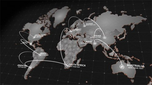 World Map Kit 20592273 - Project for After Effects (Videohive)