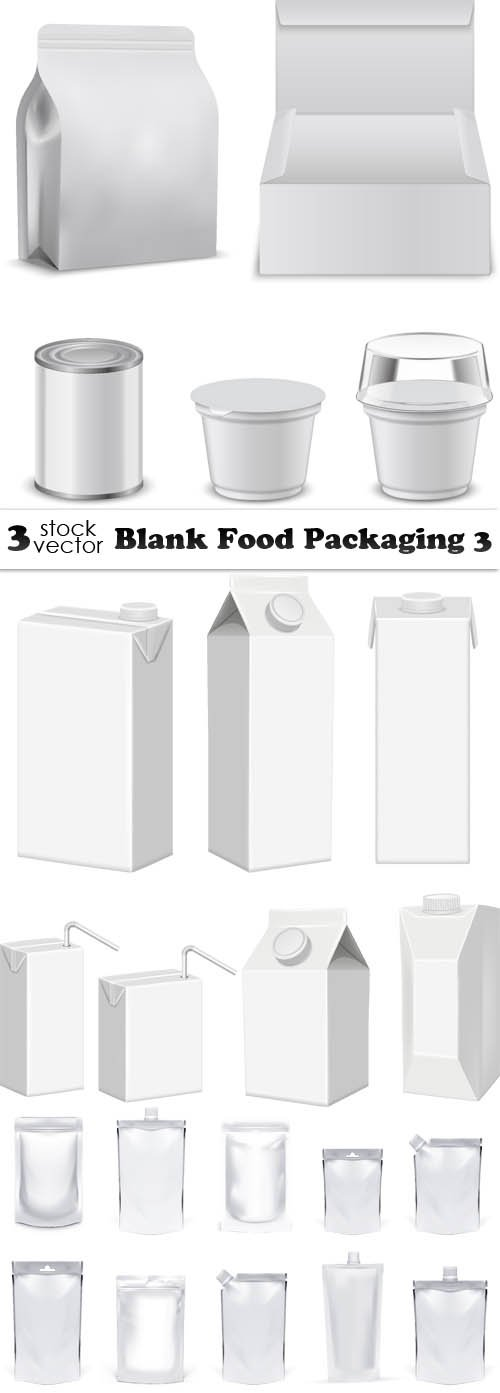 Vectors - Blank Food Packaging 3
