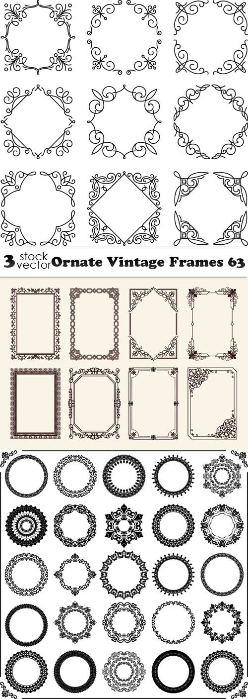 Vectors - Ornate Vintage Frames 63
