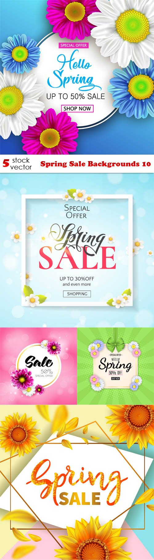 Vectors - Spring Sale Backgrounds 10