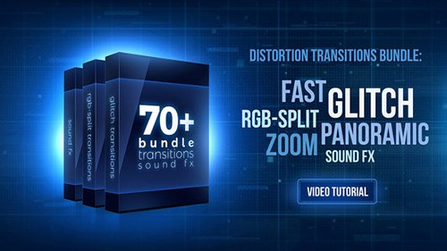 70+ Bundle: Glitch and RGB-split Transitions, Sound FX - Project for Premiere Pro (Videohive)
