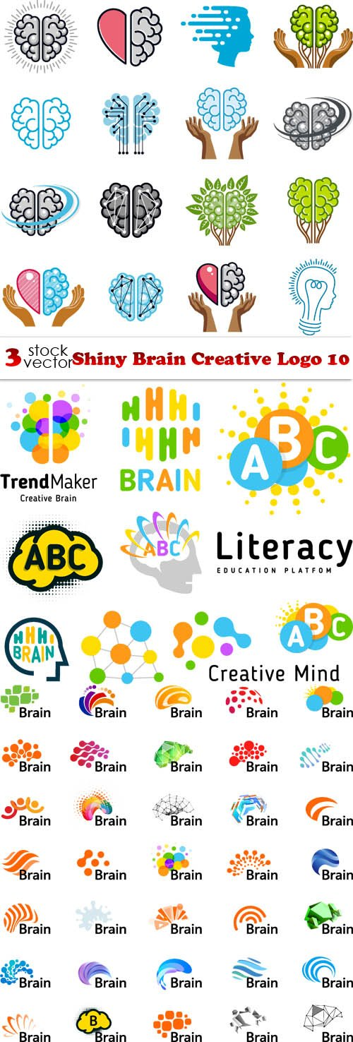 Vectors - Shiny Brain Creative Logo 10