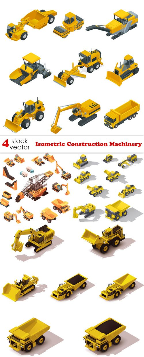 Vectors - Isometric Construction Machinery