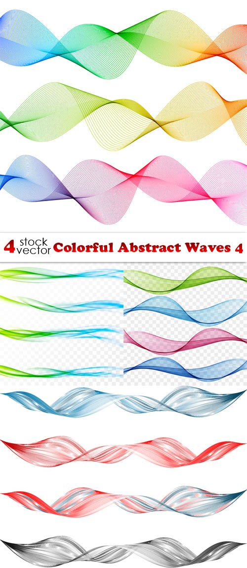 Vectors - Colorful Abstract Waves 4