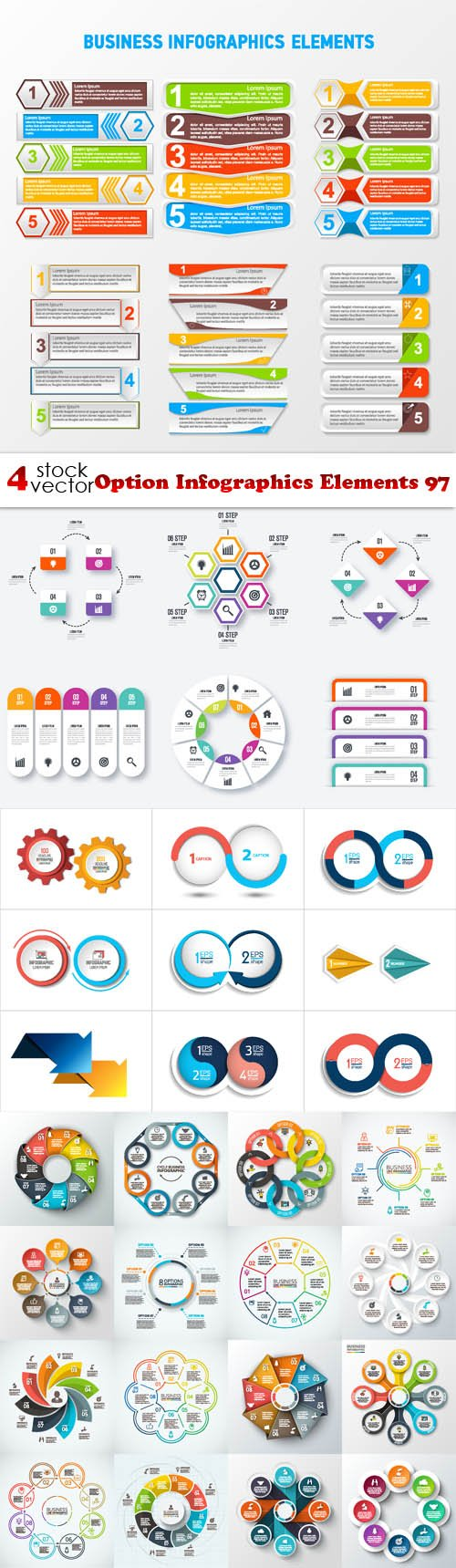 Vectors - Option Infographics Elements 97