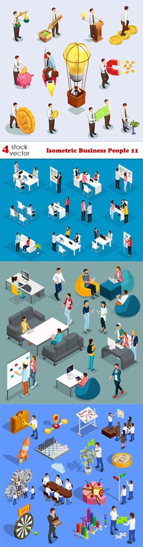 Vectors - Isometric Business People 11