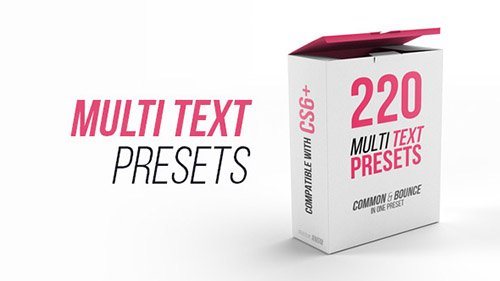 Multi Text Presets - Project for After Effects (Videohive)