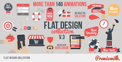 Flat Design V3 - Project for After Effects (Videohive)