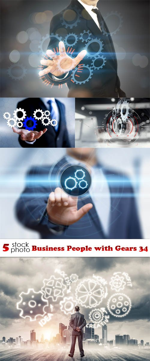 Photos - Business People with Gears 34