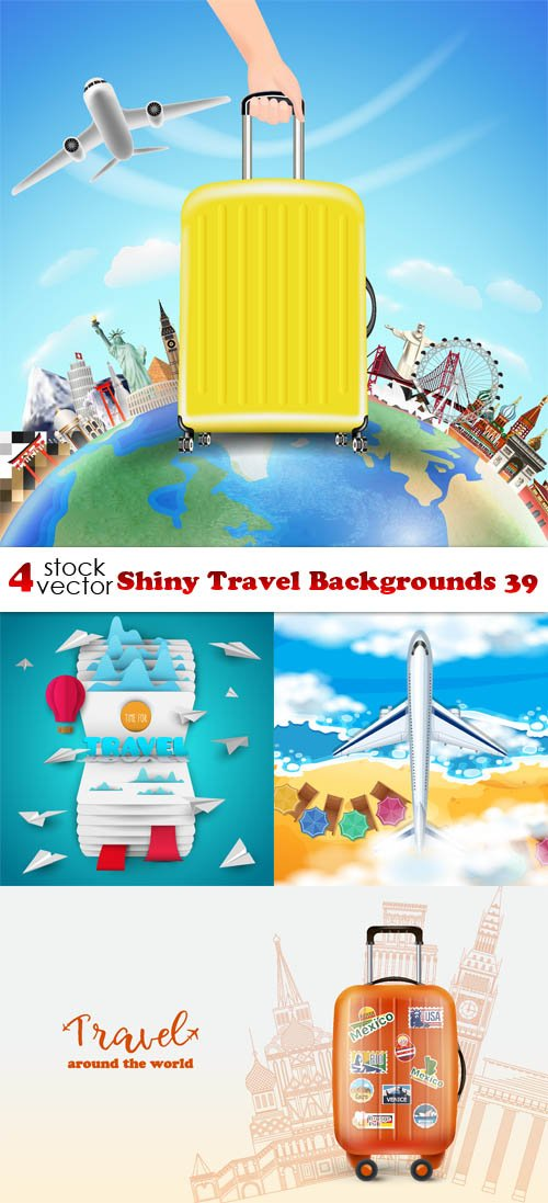 Vectors - Shiny Travel Backgrounds 39
