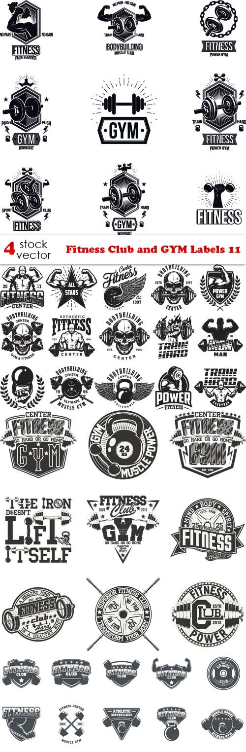Vectors - Fitness Club and GYM Labels 11
