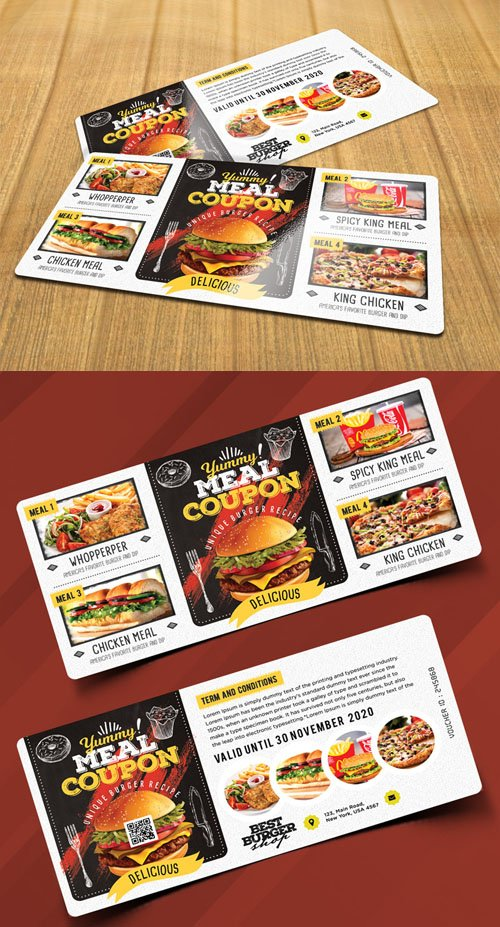 Food Voucher Design PSD Template