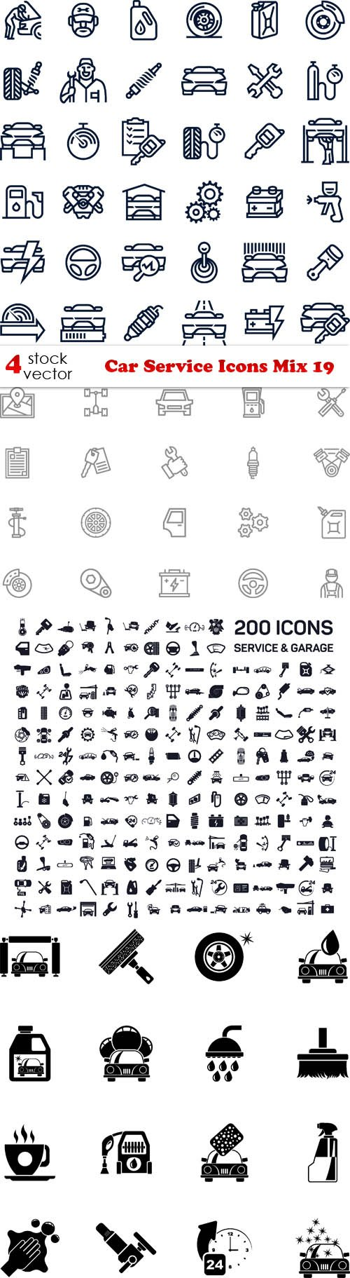 Vectors - Car Service Icons Mix 19