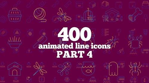 MA - 400 Animated Line Icons (Part 4) 77209