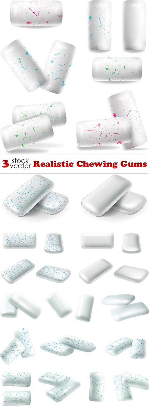 Vectors - Realistic Chewing Gums