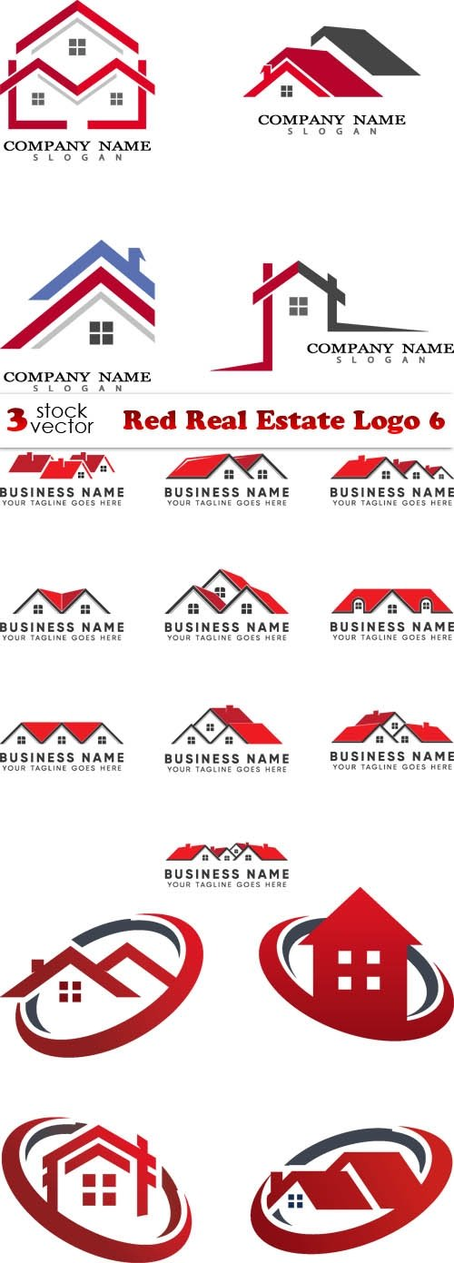 Vectors - Red Real Estate Logo 6