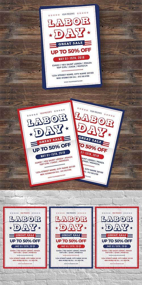 Labor Day Sale PSD Flyer