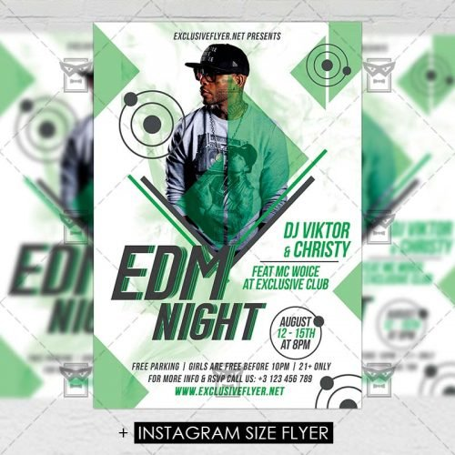 Premium A5 Flyer Template - EDM Night