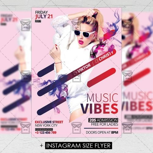 Premium A5 Flyer Template - Music Vibes