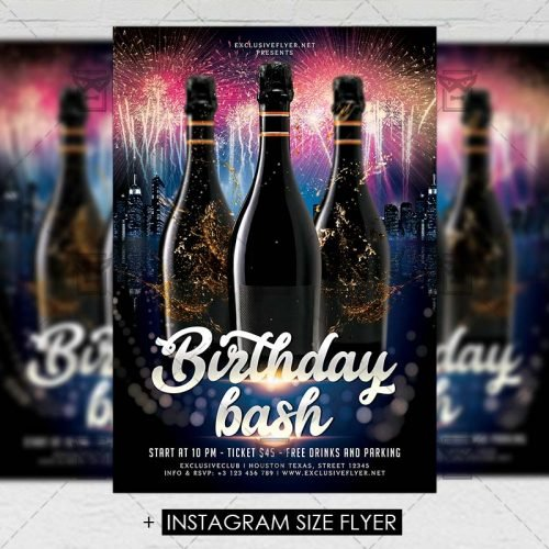 Premium A5 Flyer Template - Birthday Bash