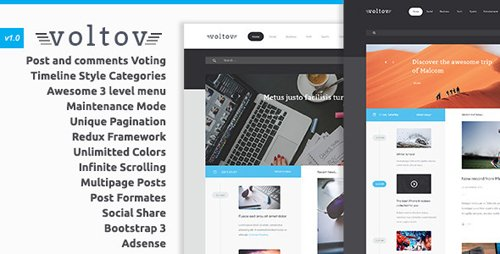 ThemeForest - Voltov v1.1 - Blog and Magazine WordPress Theme - 10692490