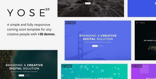 ThemeForest - Yose v2.0 - Responsive Coming Soon Template - 10350951