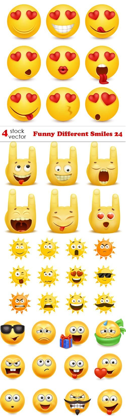 Vectors - Funny Different Smiles 24