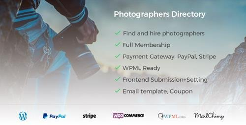 CodeCanyon - Photographer Directory v1.0.4 - WordPress Plugin - 21166889