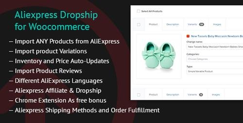 CodeCanyon - Aliexpress Dropship for Woocommerce v1.4.1 - 19821022