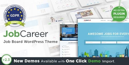 ThemeForest - JobCareer v2.3 - Job Board Responsive WordPress Theme - 14221636